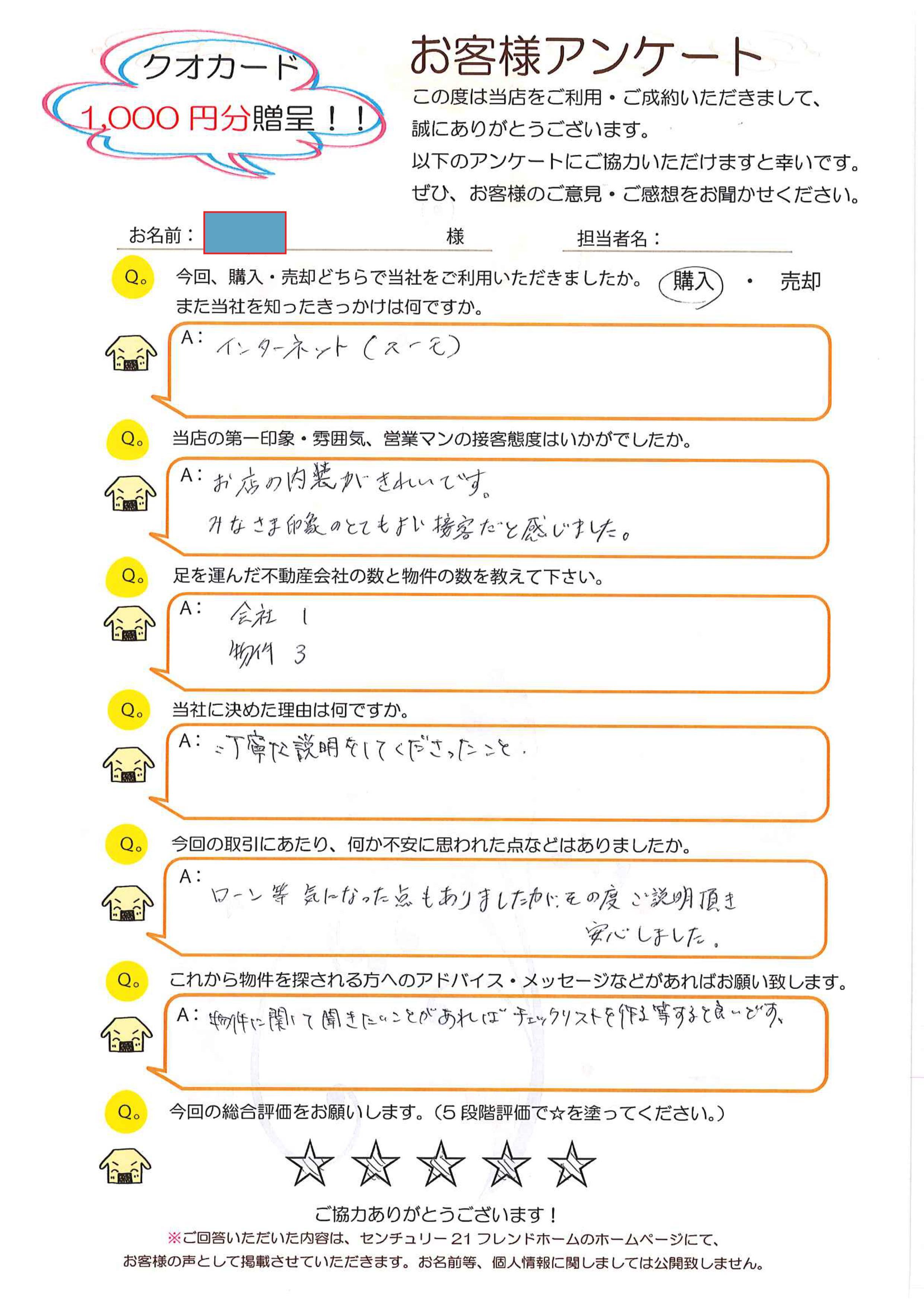 K様 (不動産購入)
