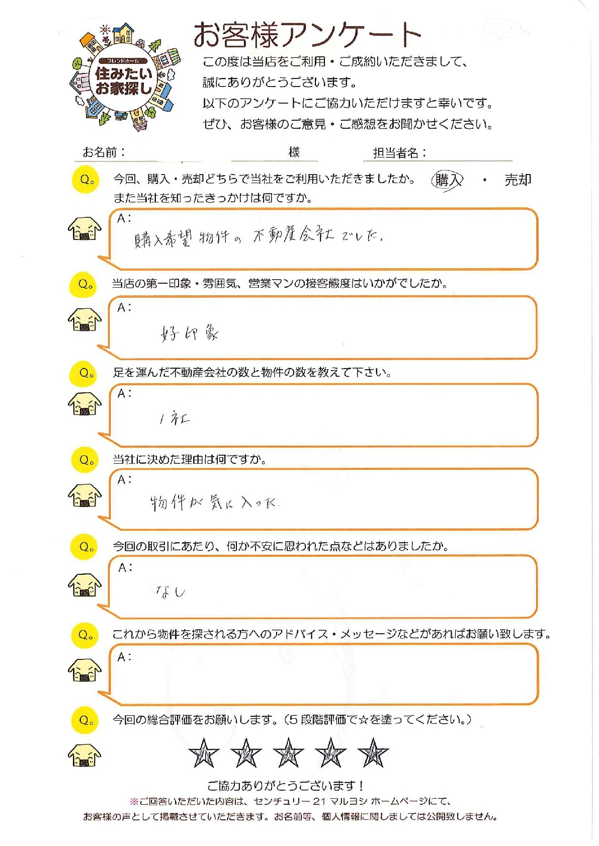 S様(不動産購入)